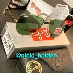 🍀RayBan Aviator Green Lens -Gold Frame RB3025